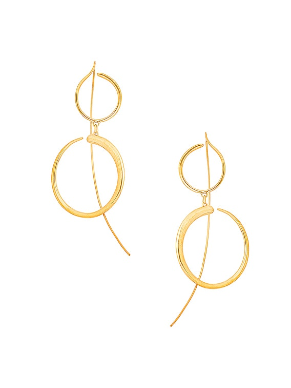 Nandi Drop Earrings in Gold