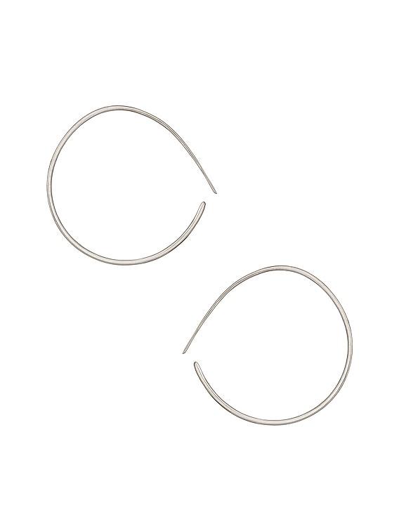 Layana Hoop Earrings in Silver
