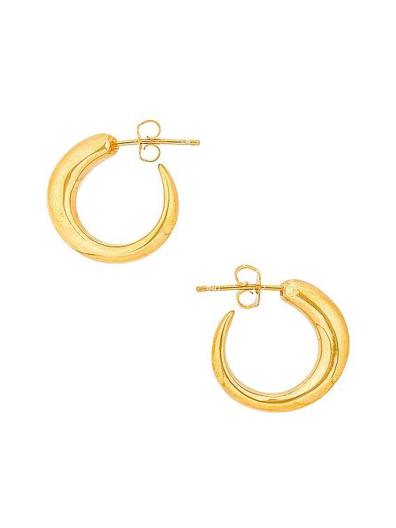 Tiny Nude Khartoum Hoop Earrings in Gold