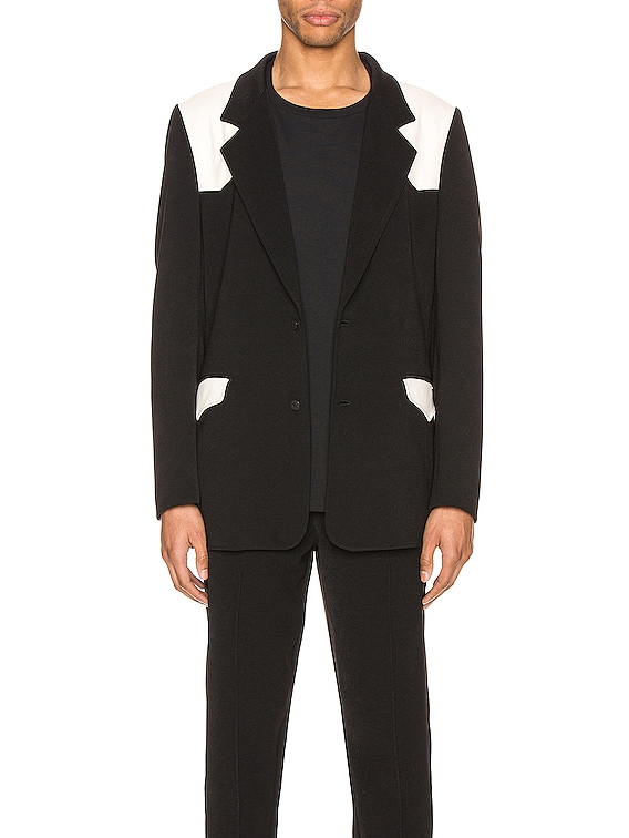 Western Detective Suit Jacket in Black & White