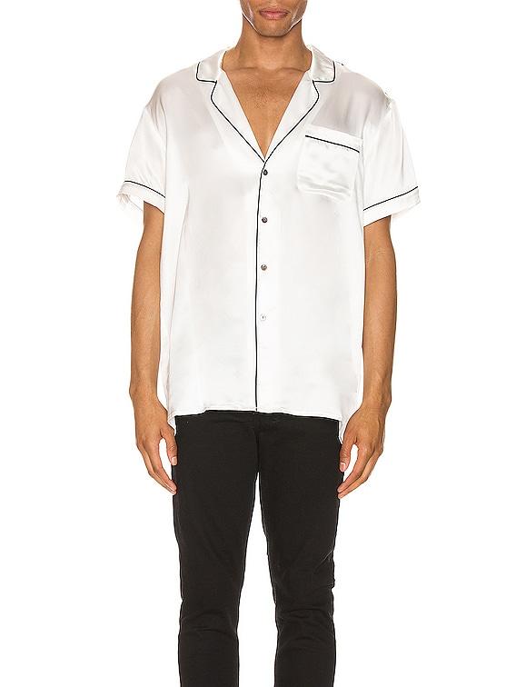 Silk Pajama Shirt in White