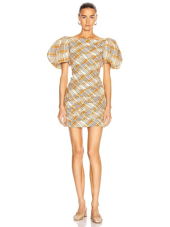 Shelly Dress in Orange Multi