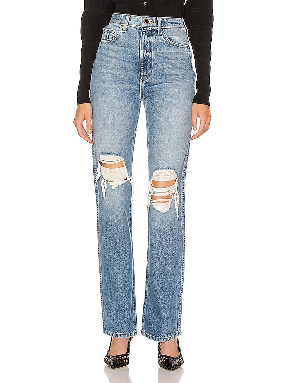 Danielle High Rise Stovepipe Jean in Portland