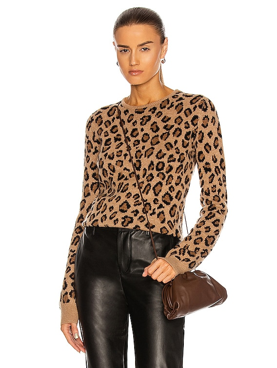 Lenora Jacquard Sweater in Cheetah