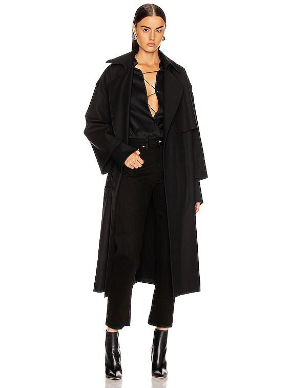 Matthias Trench Jacket in Black