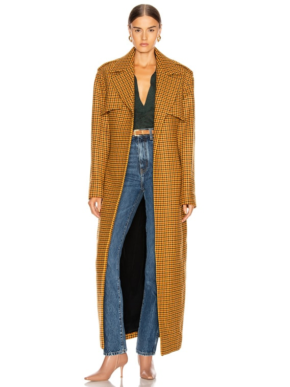 Blythe Trench Coat in Gingham
