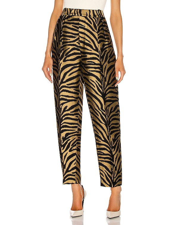 Magdeline Pant in Gold & Black Zebra