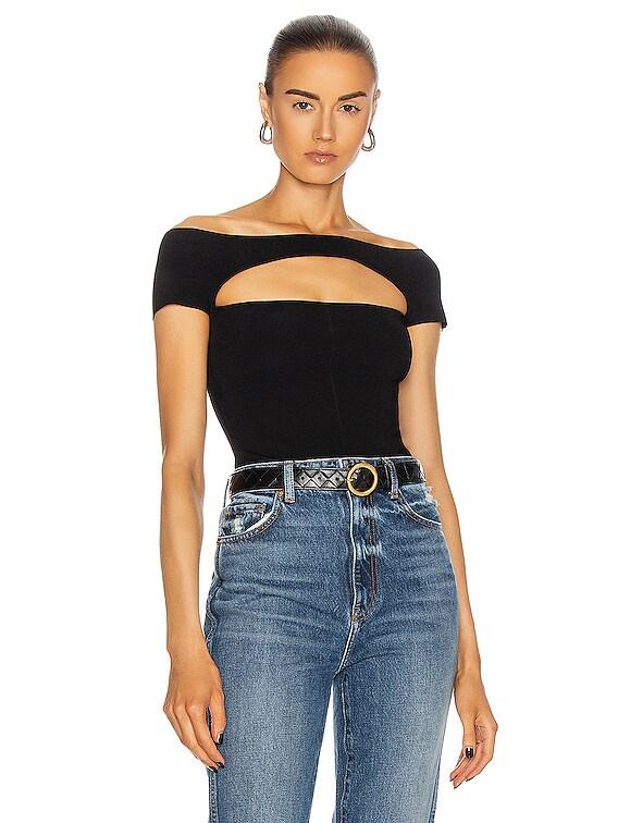 Talie Bodysuit in Black