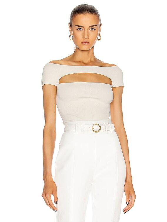 Talie Bodysuit in Ivory