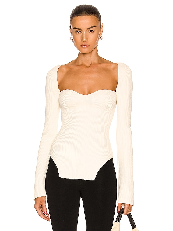 Maddy Long Bustier Top in Cream