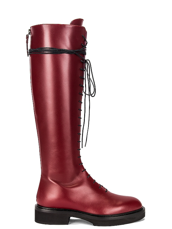 York High Boots in Bordeaux