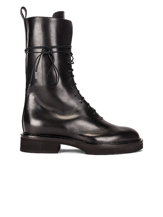 Conley Lace Up Combat Boots in Black