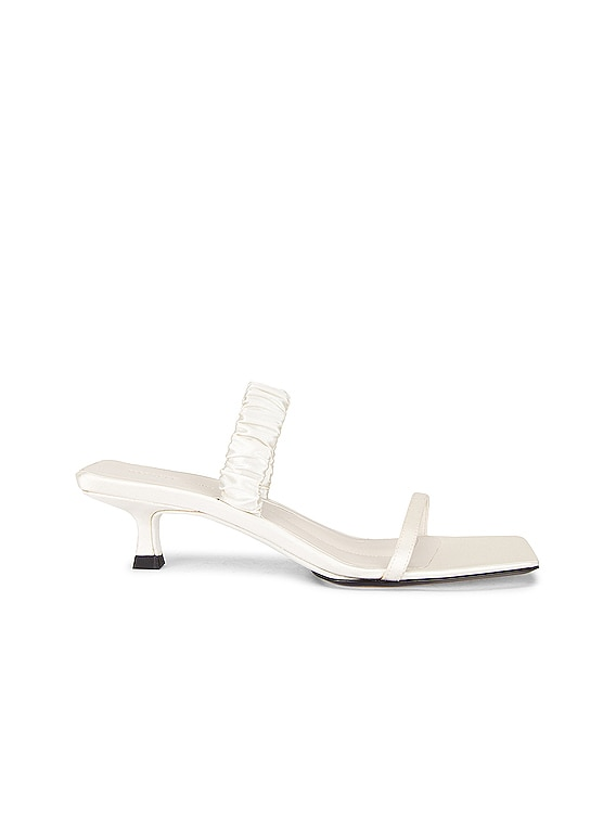 Georgia Bare Sling Back Heels in Ivory