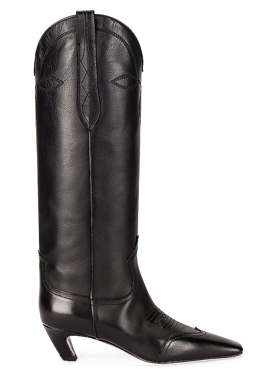 Dallas Knee High Boots in Black