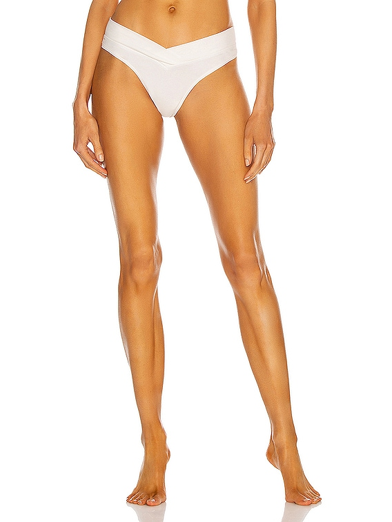 2-Pack Billie Organic Cotton Thong in Ivory