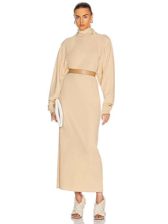 Foulard Dress in Almond Milk