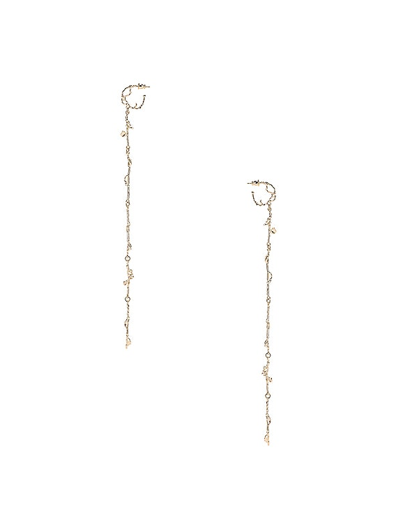 Twig Creole Earrings in Moonlight Gold