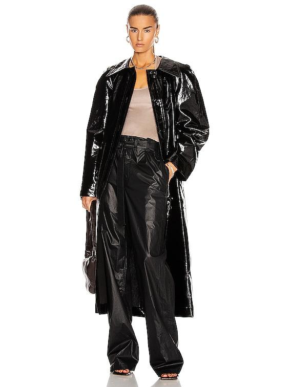 Vinyl Trenchcoat in Black
