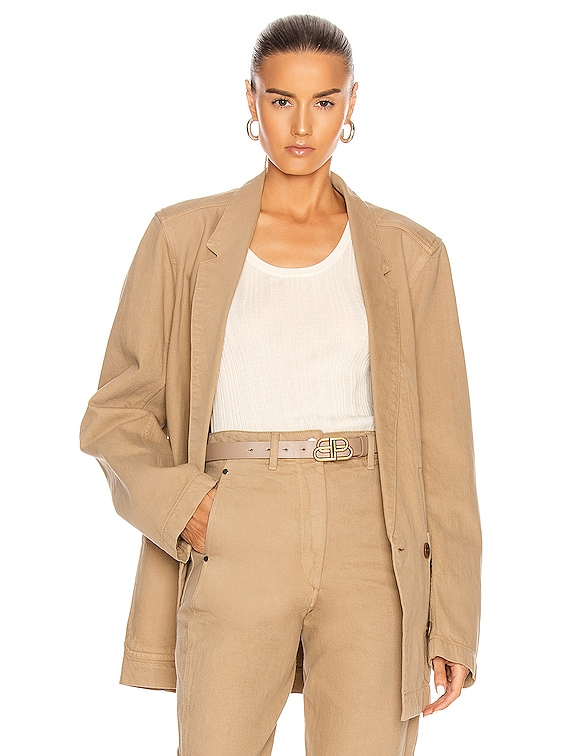 Double Breasted Jacket in Beige
