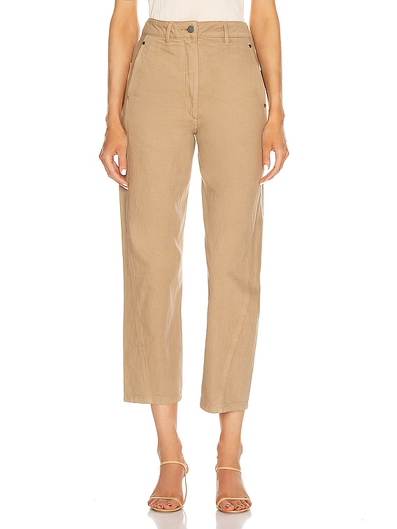 Twisted Pant in Beige