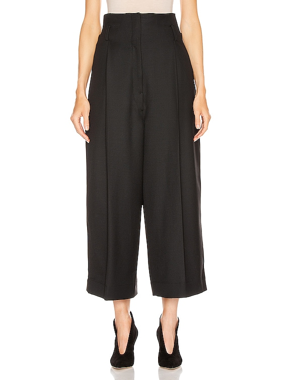 High Waisted Tailored Pant in Black