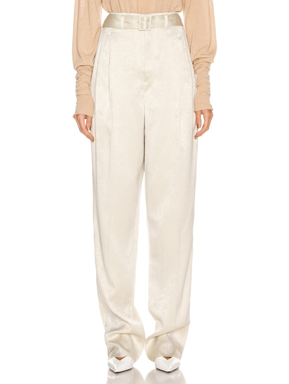 Pleated Pant in Pearl