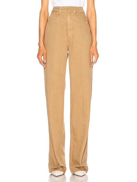 Denim Pant in Beige