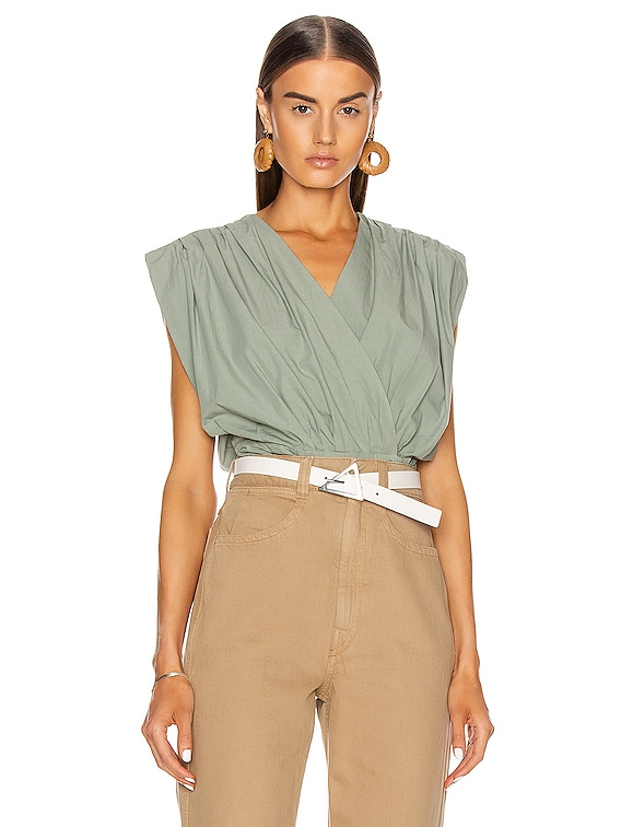 Sleeveless Top in Khaki Grey