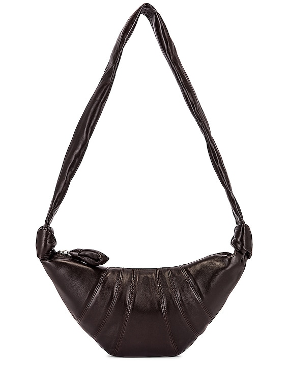 Small Croissant Bag in Dark Chocolate