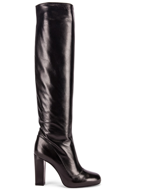 High Heeled Boots in Black