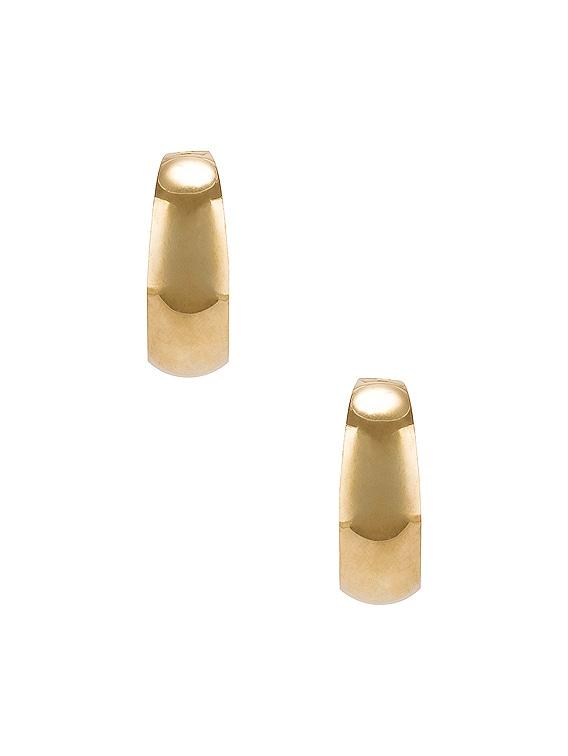 Dome Hoop Earrings in Yellow Gold