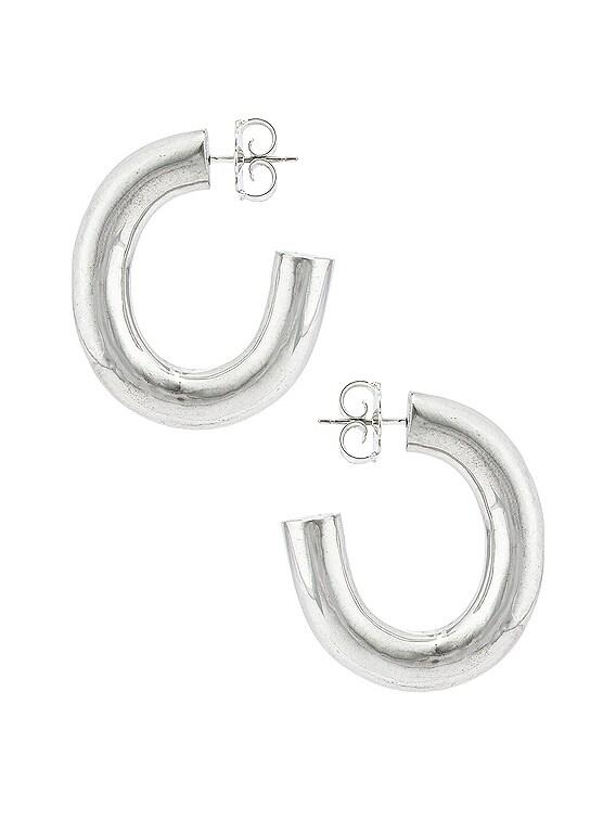 Bubble Hoop Earrings in Sterling Silver