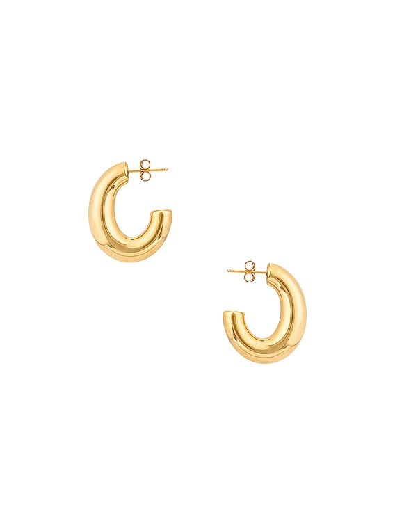 Medium Pompa Hoop Earrings in Vermeil
