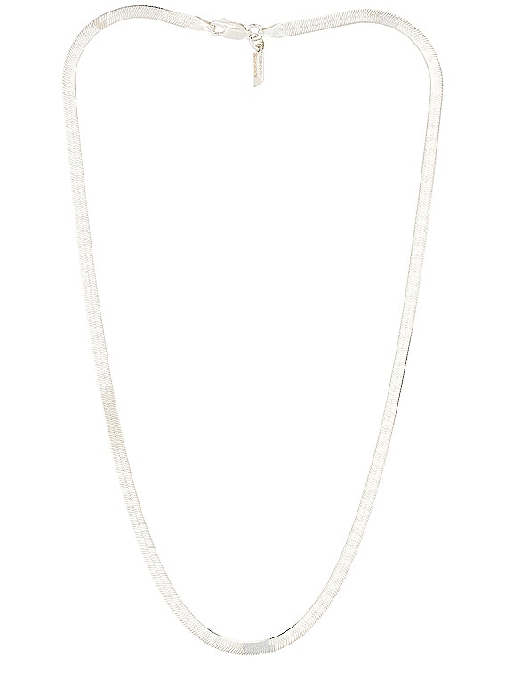 Herringbone Necklace in Sterling Silver