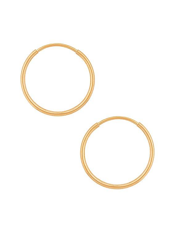 Mini Infinity Hoop Earrings in Gold