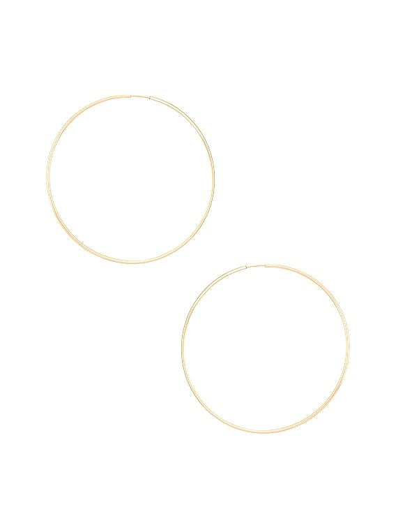 Seraphina Hoop Earrings in Gold