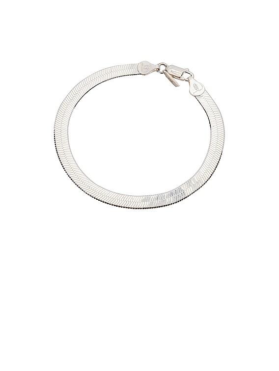 XL Herringbone Bracelet in Sterling Silver