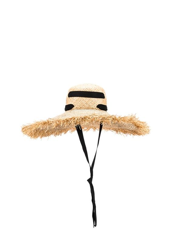 Alpargatas Bis Hat in Natural & Black