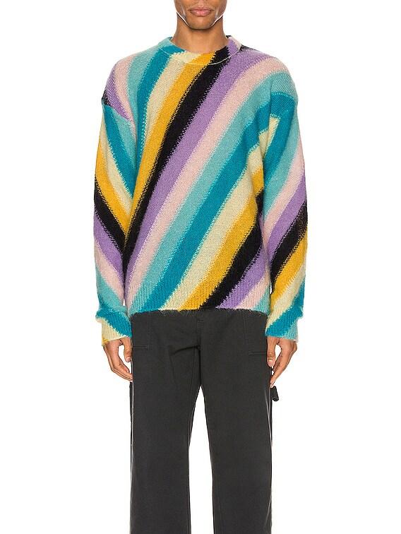 Stripe Mohair Sweater in Multi