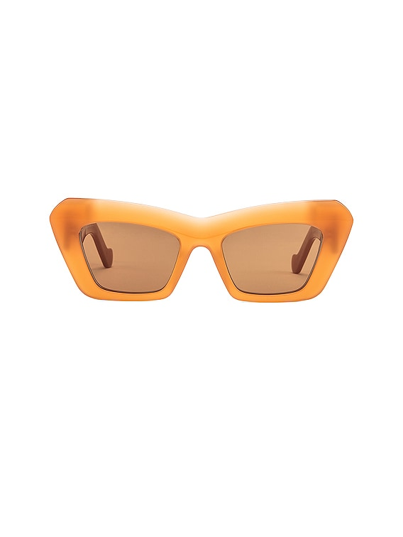 Acetate Cat Eye Sunglasses in Brown & Orange