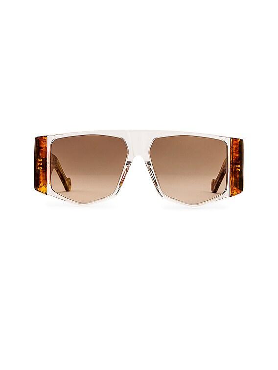 Acetate Sunglasses in Crystal & Gradient Brown