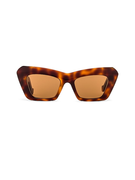 Acetate Cateye Sunglasses in Blonde Havana & Brown