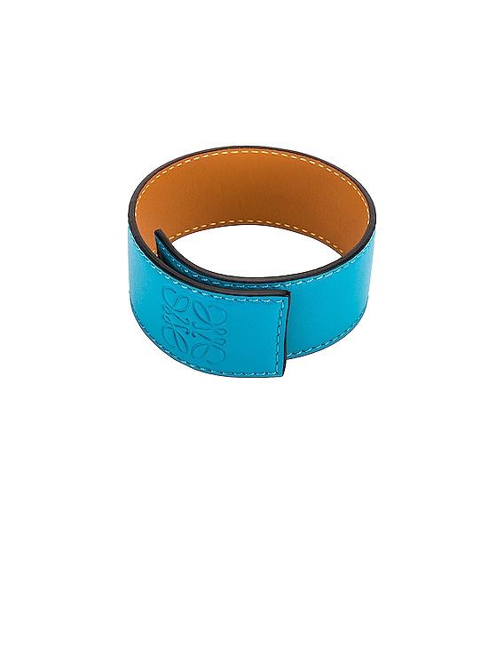 Small Slap Bracelet in Peacock Blue