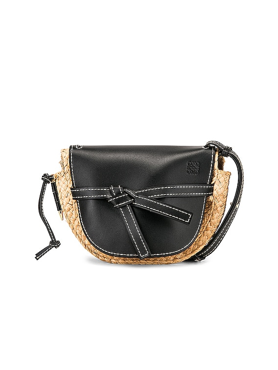 Gate Small Bag in Black & Natural