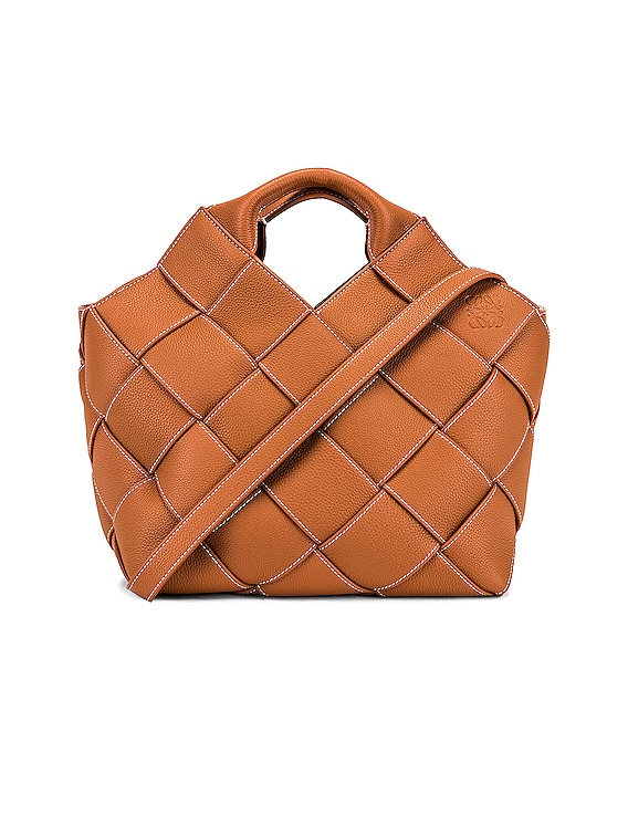 Woven Basket Bag in Tan