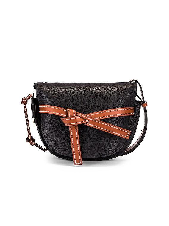 Gate Small Bag in Black & Pecan