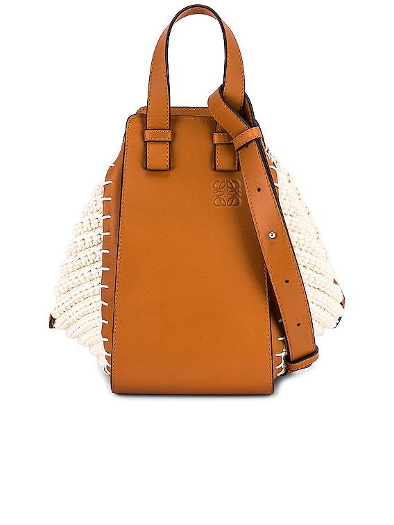 Hammock Knit Small Bag in Tan & Natural