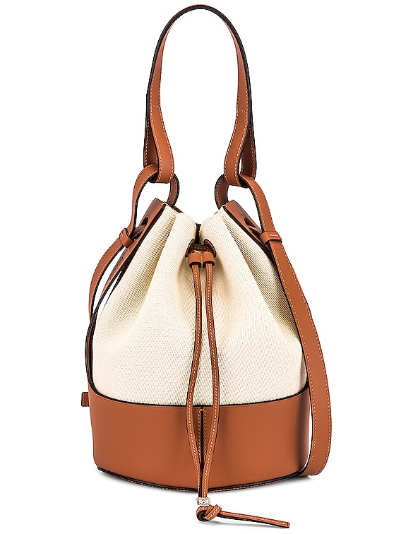 Balloon Bag in Ecru & Tan