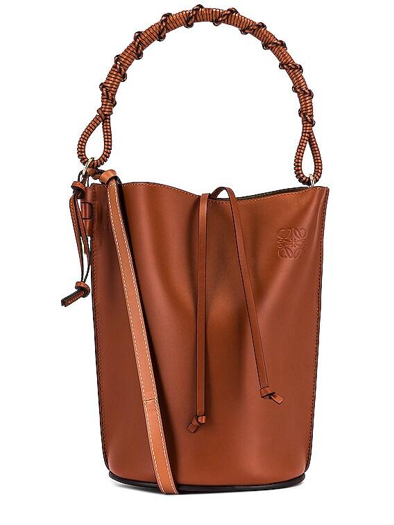 Gate Handle Bag in Rust Color