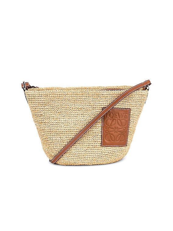 Pochette Bag in Natural & Tan